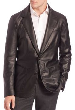 Saks Fifth Avenue COLLECTION Leather Blazer
