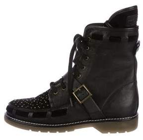 See by Chloe Leather Studded Ankle Boots w/ Tags