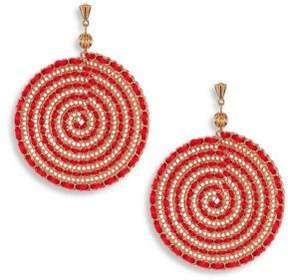 Ettika Red Swirl Chain Earrings