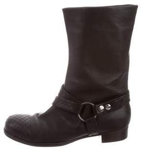 Chanel Cap-Toe Mid-Calf Boots