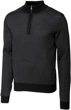 Cutter & Buck Black Collin Half-Zip Pullover - Men