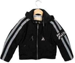 John Galliano Boys' Hooded Moto Jacket