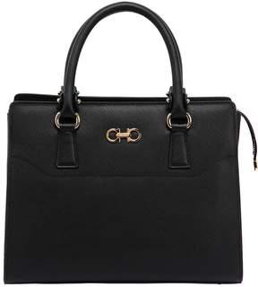 Salvatore Ferragamo Beky Saffiano Leather Top Handle Bag
