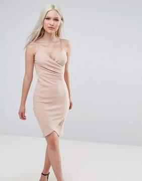 AX Paris Wrap Front Ruched Dress