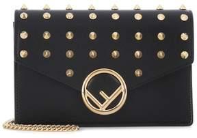 Fendi Embellished leather clutch