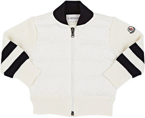 Moncler Kids' Down-Quilted Zip-Front Cardigan
