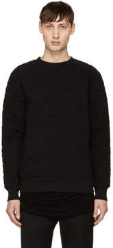 Balmain Black Matelasse Sweatshirt