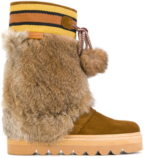 See by Chloe pom-pom moon boots