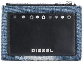 Diesel front logo patched purse