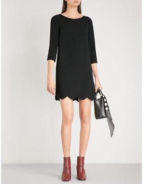 Claudie Pierlot Scalloped-hem crepe mini dress