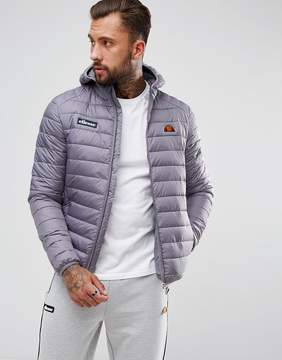 Ellesse Padded Jacket With Hood In Gray