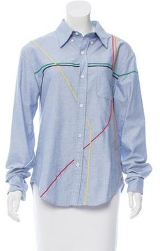 Band Of Outsiders Oversize Embroidered Top