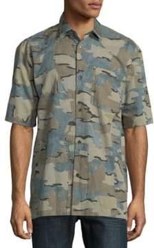 Dries Van Noten Camouflage Button-Down Shirt