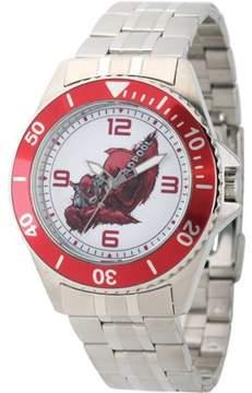 Marvel Marvel's Deadpool Men's Honor Stainless Steel Watch, Red Bezel, Stainless Steel Bracelet
