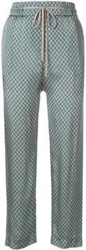 Peserico geometric print trousers