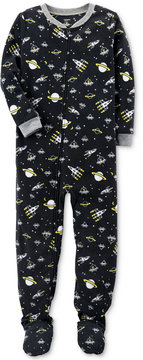 Carter's 1-Pc. Space-Print Glow-In-The-Dark Footed Fleece Pajamas, Little Boys (4-7) & Big Boys (8-20)