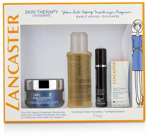 Lancaster Skin Therapy Oxygenate Set: Moisturizer Gel-Cream 50ml+ Serum Youth Renewal 10ml+ Eye Care 3ml+ Express Cleanser 100ml
