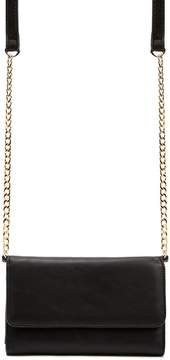 Forever 21 Chain-Strap Faux Leather Crossbody