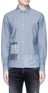 Denham Jeans Boro patchwork chambray shirt