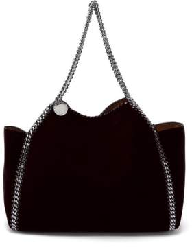 Stella McCartney Falabella Small Reversible Velvet Tote Bag - Womens - Black