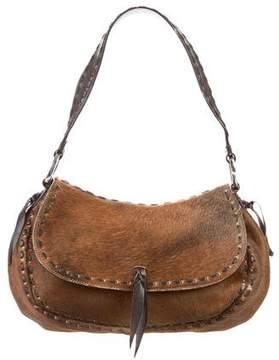 Oscar de la Renta Ponyhair Shoulder Bag