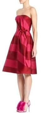 Carolina Herrera Striped Strapless Dress