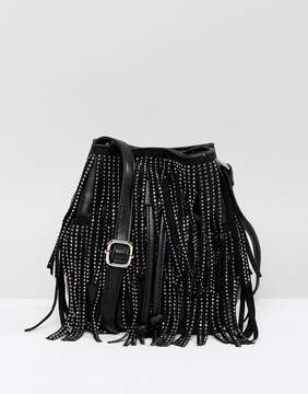 New Look Rhinestone Fringe Duffle Bag