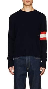 Calvin Klein Men's Logo Striped Cashmere Sweater