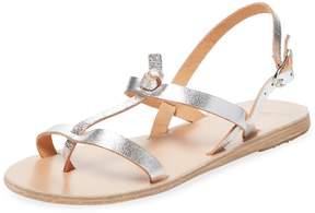 Ancient Greek Sandals Women's Galini Metallic Leather Sandal