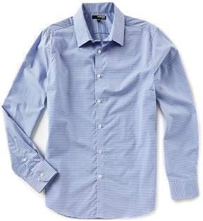 Murano Slim-Fit Gingham Dobby Long-Sleeve Woven Shirt