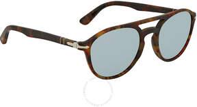 Persol Light Green Mirror Silver Aviator Sunglasses PO3170S 901630