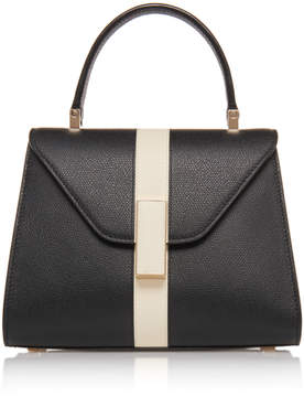 Valextra Mini Iside Striped Leather Bag