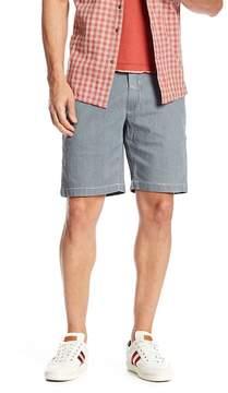 Jeremiah Bryant Stripe Bleached Denim Shorts