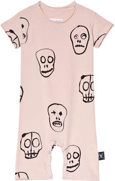 Nununu Powder Pink Skull Mask Playsuit