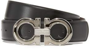 Salvatore Ferragamo Double Gancio Enamel Reversible Leather Belt