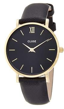 Cluse Women's Minuit Leather Watch.