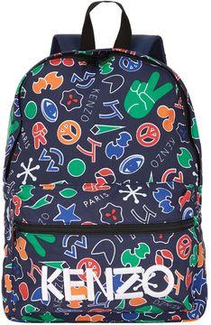 Kenzo Emoji Print Backpack
