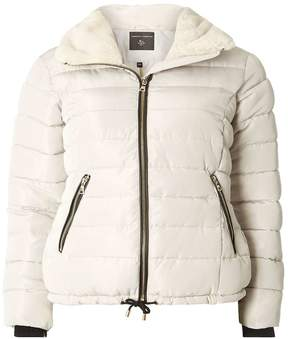 Dorothy Perkins Grey Faux Fur Collar Padded Jacket