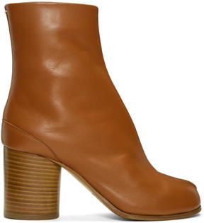 Maison Margiela Brown Leather Tabi Boots