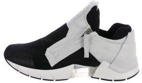Cinzia Araia Round-Toe High-Top Sneakers