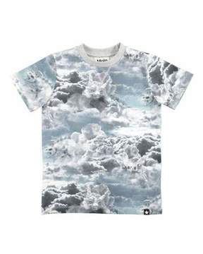 Molo Ralphie Cloud Figures Printed Short-Sleeve T-Shirt, Size 4-10