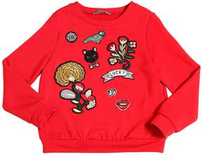 Ermanno Scervino Sweatshirt W/ Embroidered Patches