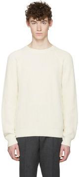 Ami Alexandre Mattiussi Off-White Ribbed Sweater