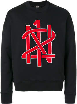 No.21 logo embroidered sweatshirt