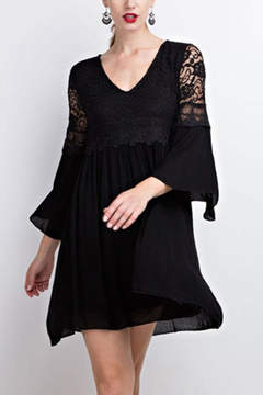 Easel Lace Bell Sleeve-Dress