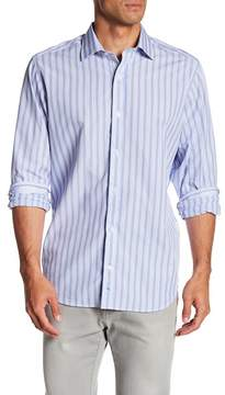 Tailorbyrd Long Sleeve Stripe Classic Fit Woven Shirt