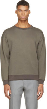 Christopher Kane Grey Embossed Sweatshirt
