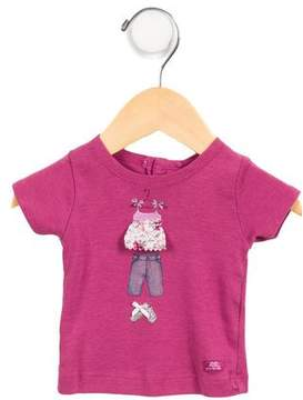Lili Gaufrette Girls' Printed Short Sleeve T-Shirt