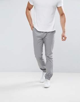 Asos Slim Woven Joggers in Warm Gray