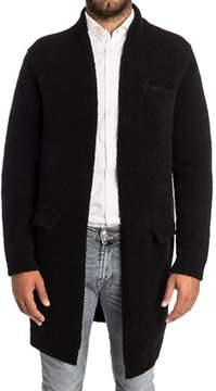 Laneus Men's Black Wool Coat.